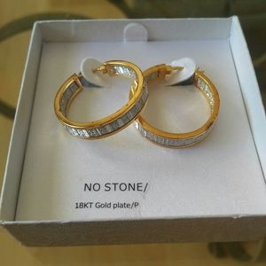 3 FOR 20 SALECostume earrings 18k goldplated hoops
